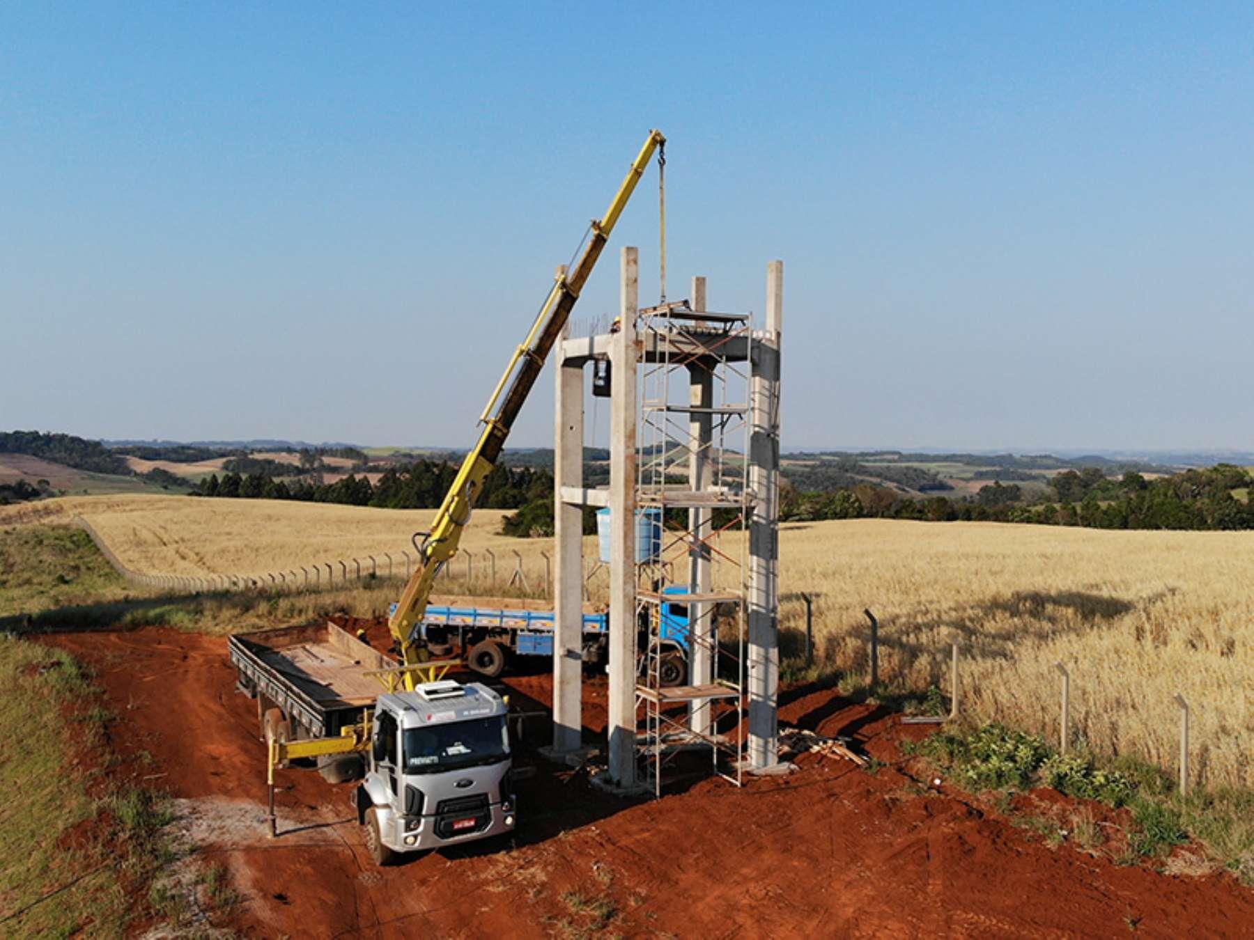 Estrutura Pré-moldada para reservatório de água